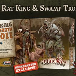Zombicide: Green Horde Kickstarter Exclusive Rat King & Swamp Troll