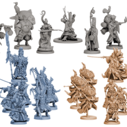 All 27 miniatures that come in the Dynasty Invasion box.