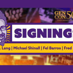 Get an autograph from Eric M. Lang, Michael Shinall, Fel Barros, and Fred Perret!