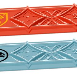 Details of the House Stark and House Lannister plastic rulers!