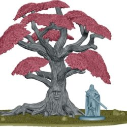 3D Render of the Weirwood Tree (with Ned and Catelyn for scale)