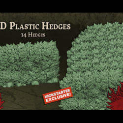 Zombicide Green Horde Kickstarter Exclusive 3D Plastic Hedges Set