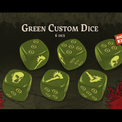 Zombicide Green Horde Kickstarter Exclusive Green Dice