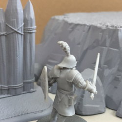 Lannister Guard with Plateau and Palisade for scale